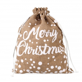 "Tin Tours Christmas jute bag ""merry christmas"" 60x45 cm"