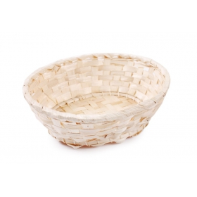Oval bamboo basket 21x17x7 cm