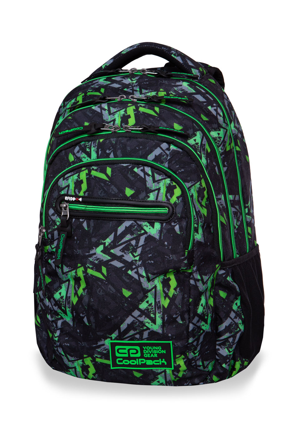 Coolpack - college tech - youth backpack - electric green