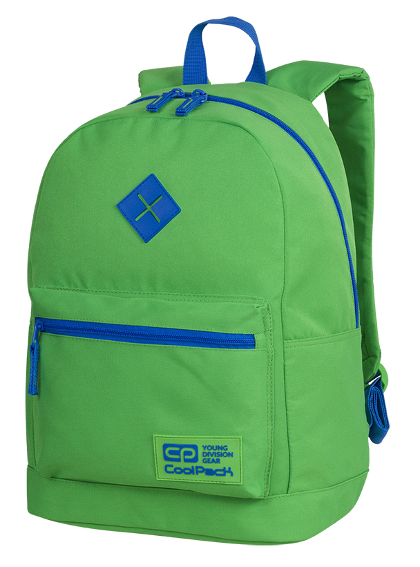 Coolpack - cross neon green - youth backpack - a461 - 1 compartment