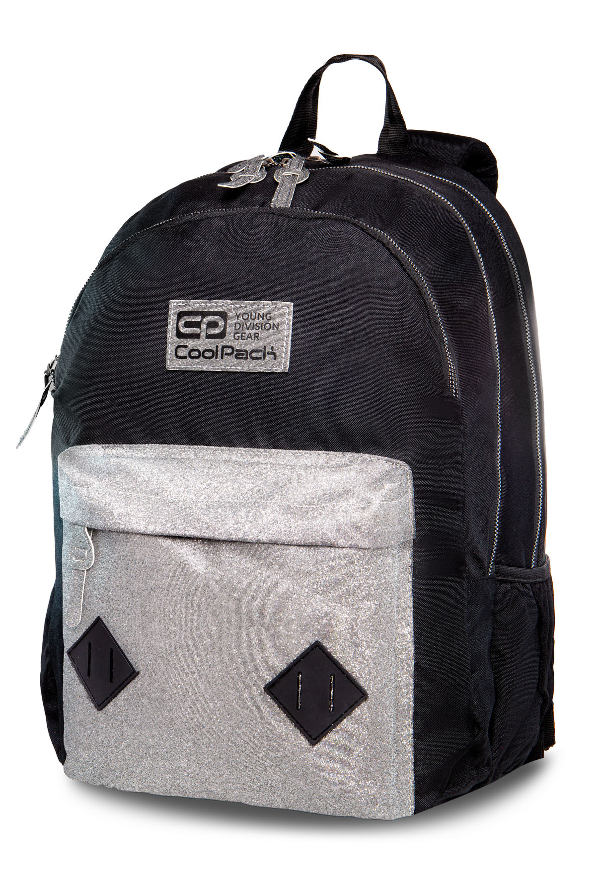 Coolpack - hippie - youth backpack - silver glitter