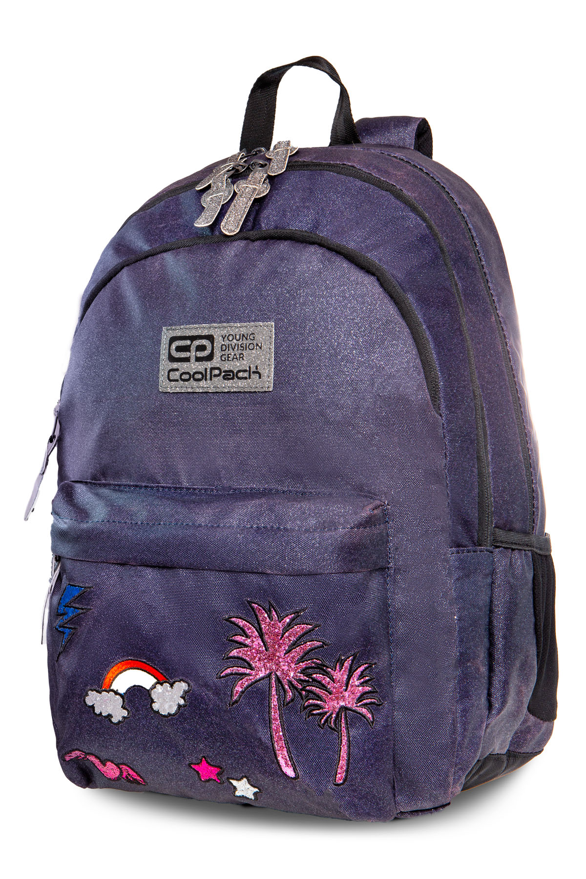 Coolpack - hippie - youth backpack - sparkling badges jeans