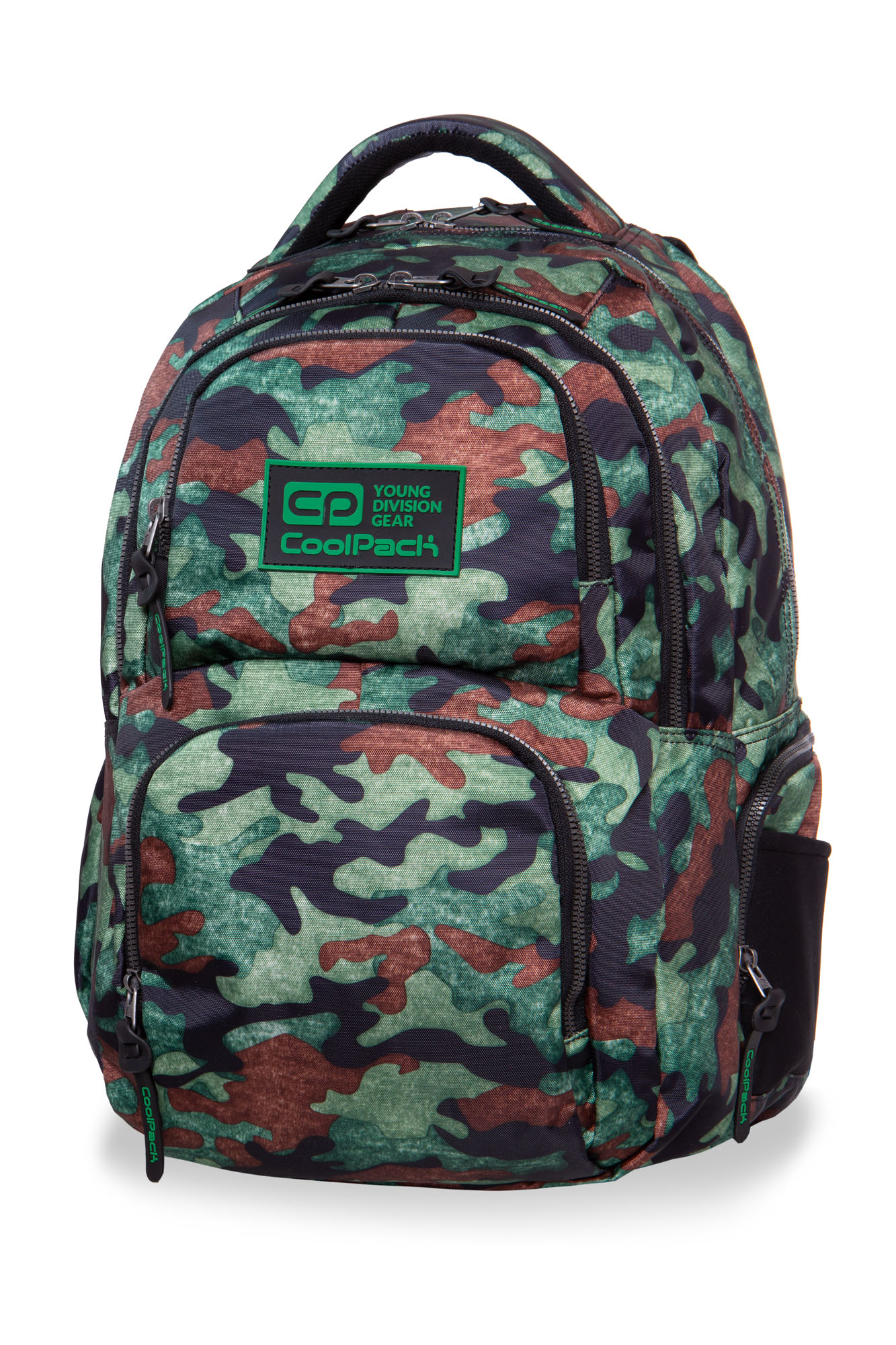 Coolpack - aero - youth backpack - camo fusion green