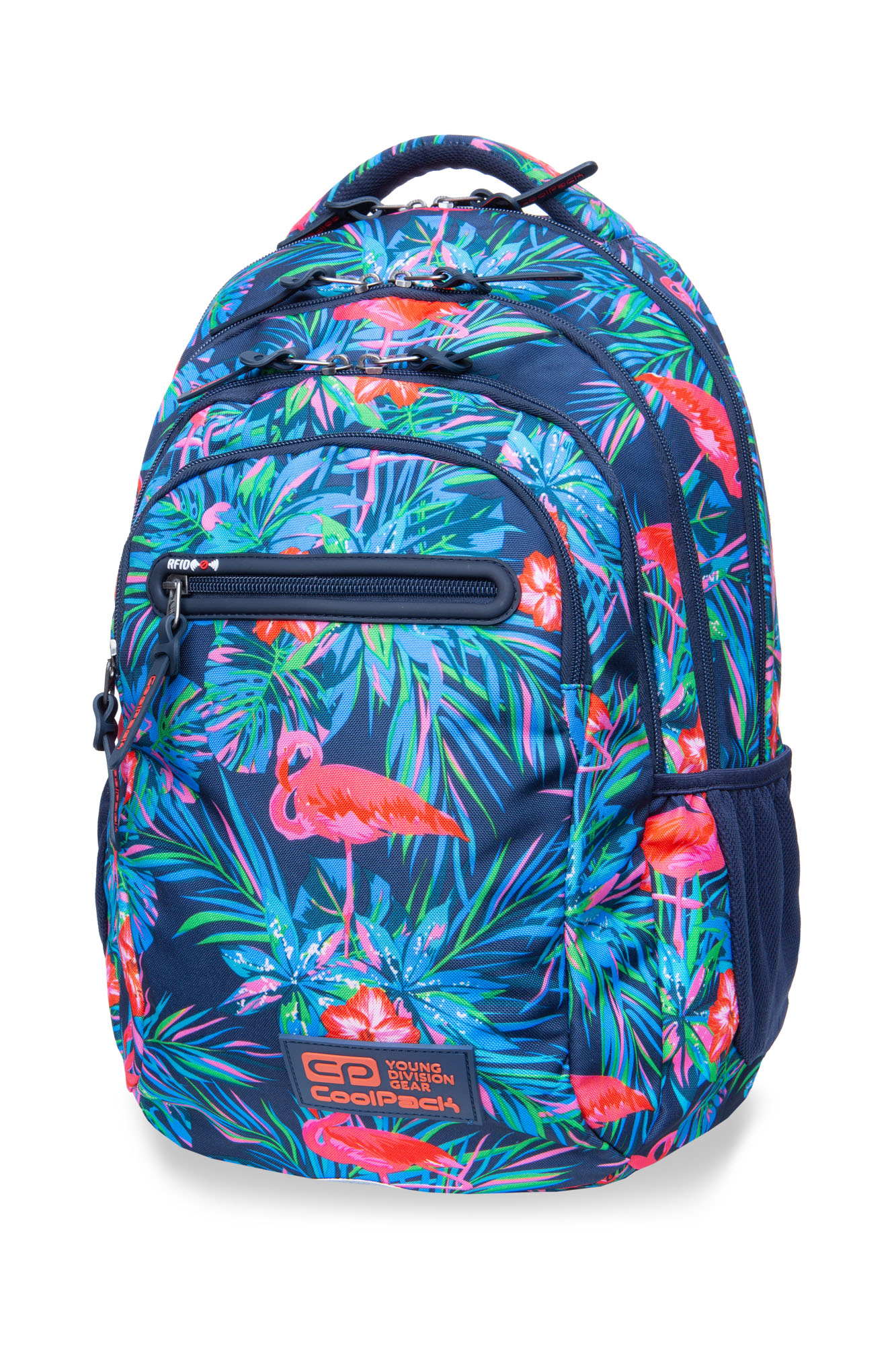 Coolpack - college tech - youth backpack - pink flamingo