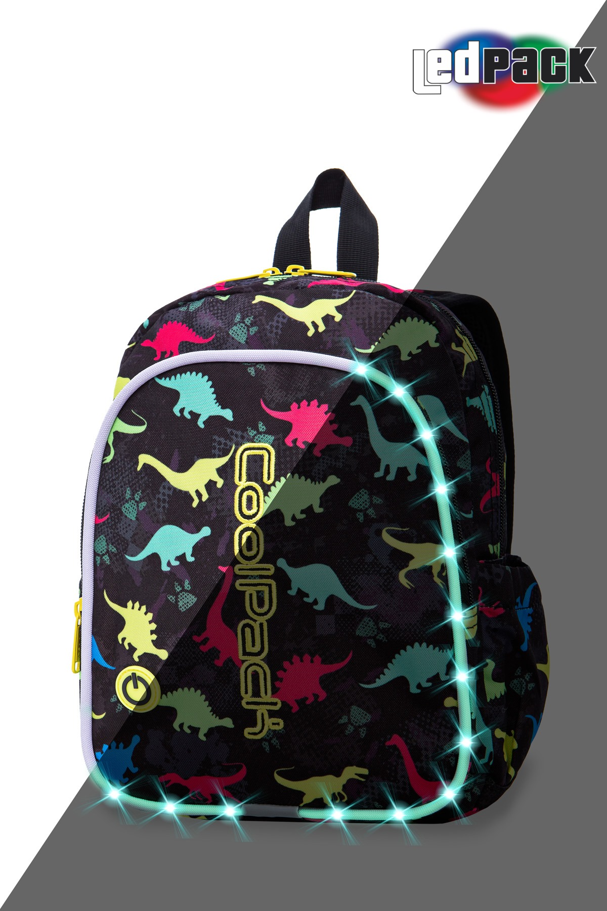 Coolpack - bobby - kids backpack - led dinosaurs