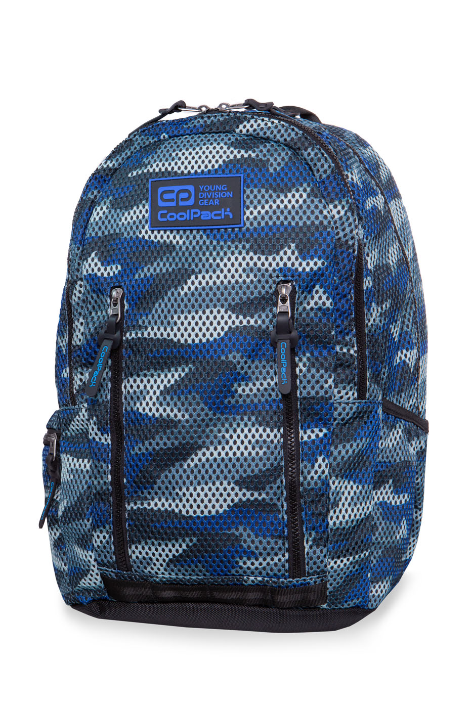 Coolpack - impact ii - youth backpack - camo mesh gray