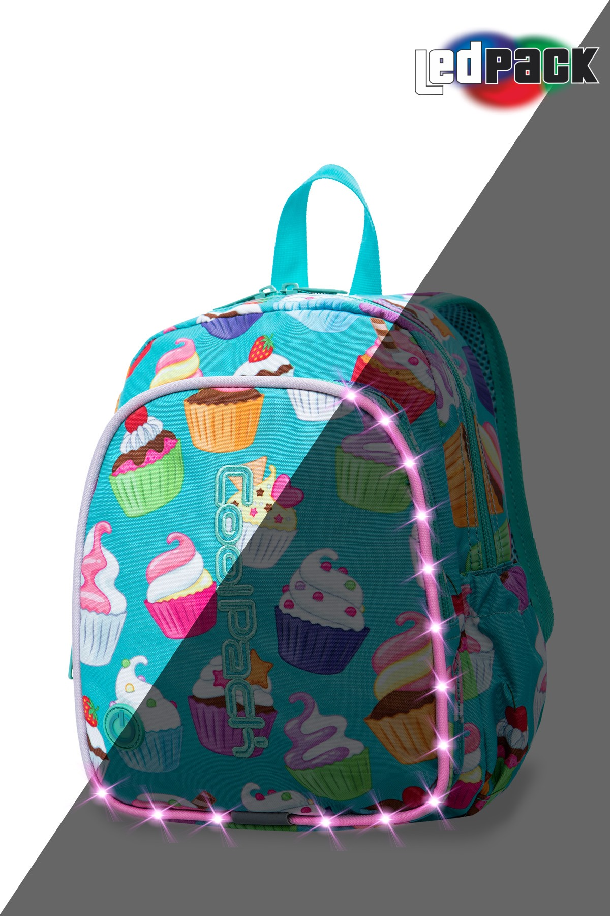 Coolpack - bobby - kids backpack - led cupcakes