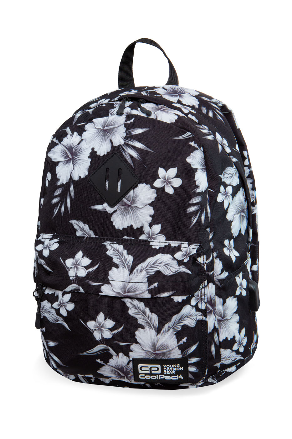 Coolpack - cross - youth backpack - white hibiscus