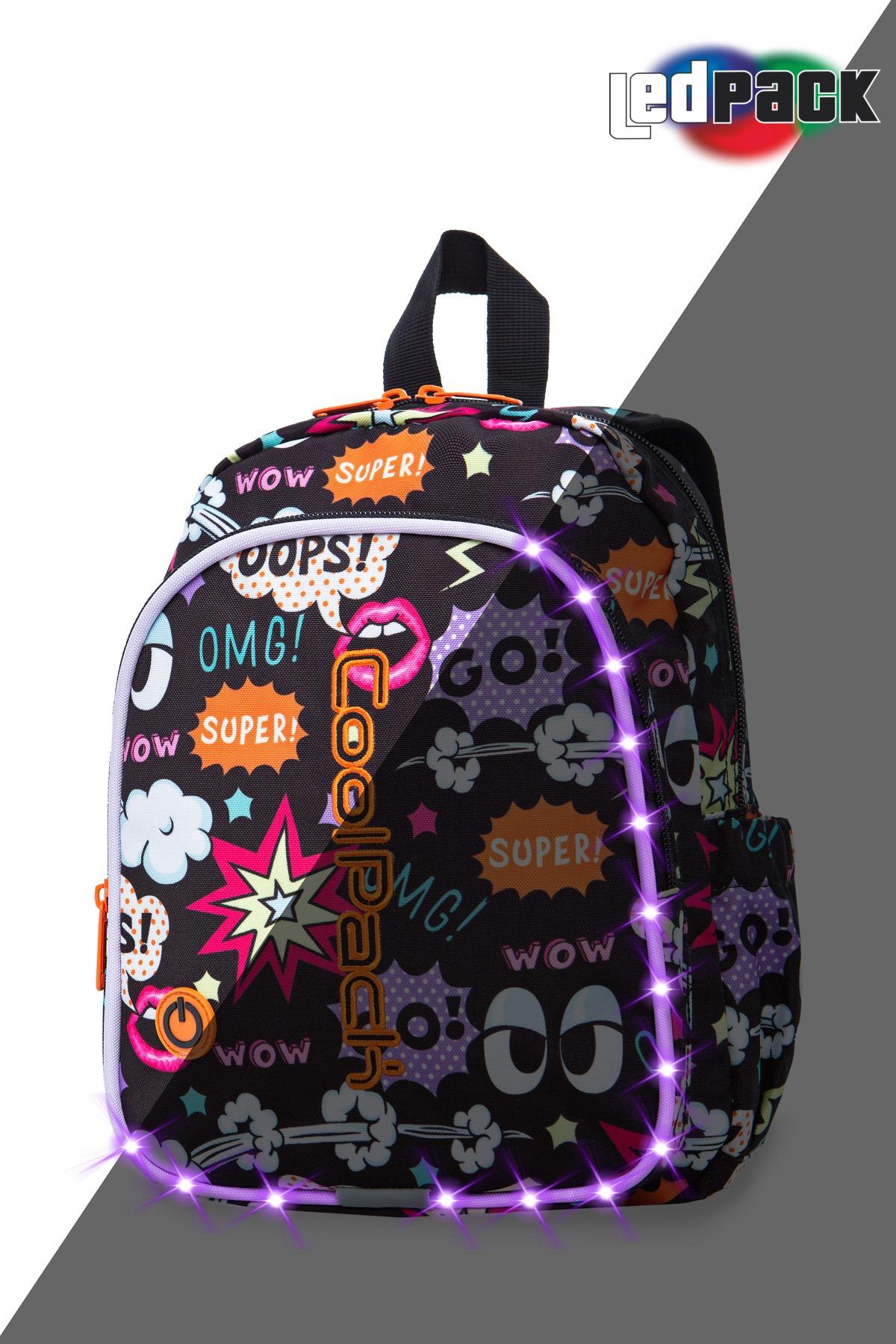 Coolpack - bobby - kids backpack - led comics