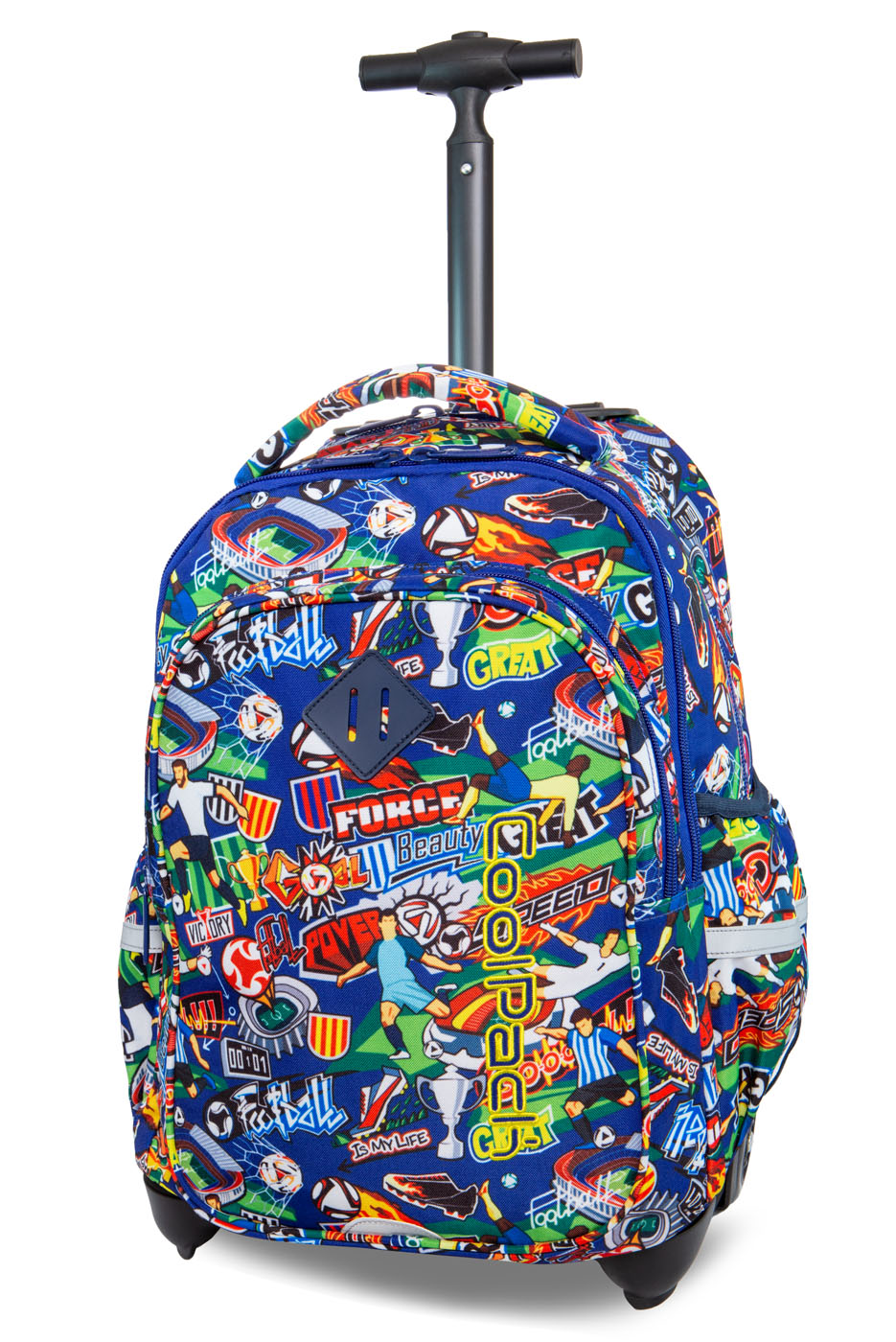 Coolpack   junior  rygsæk med hjul   football cartoon