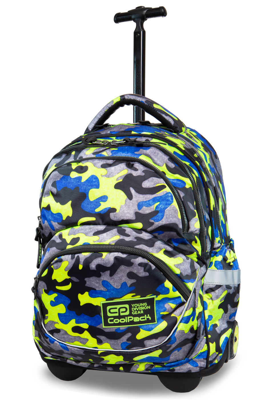 Coolpack   starr  rygsæk med hjul   camo fusion yellow