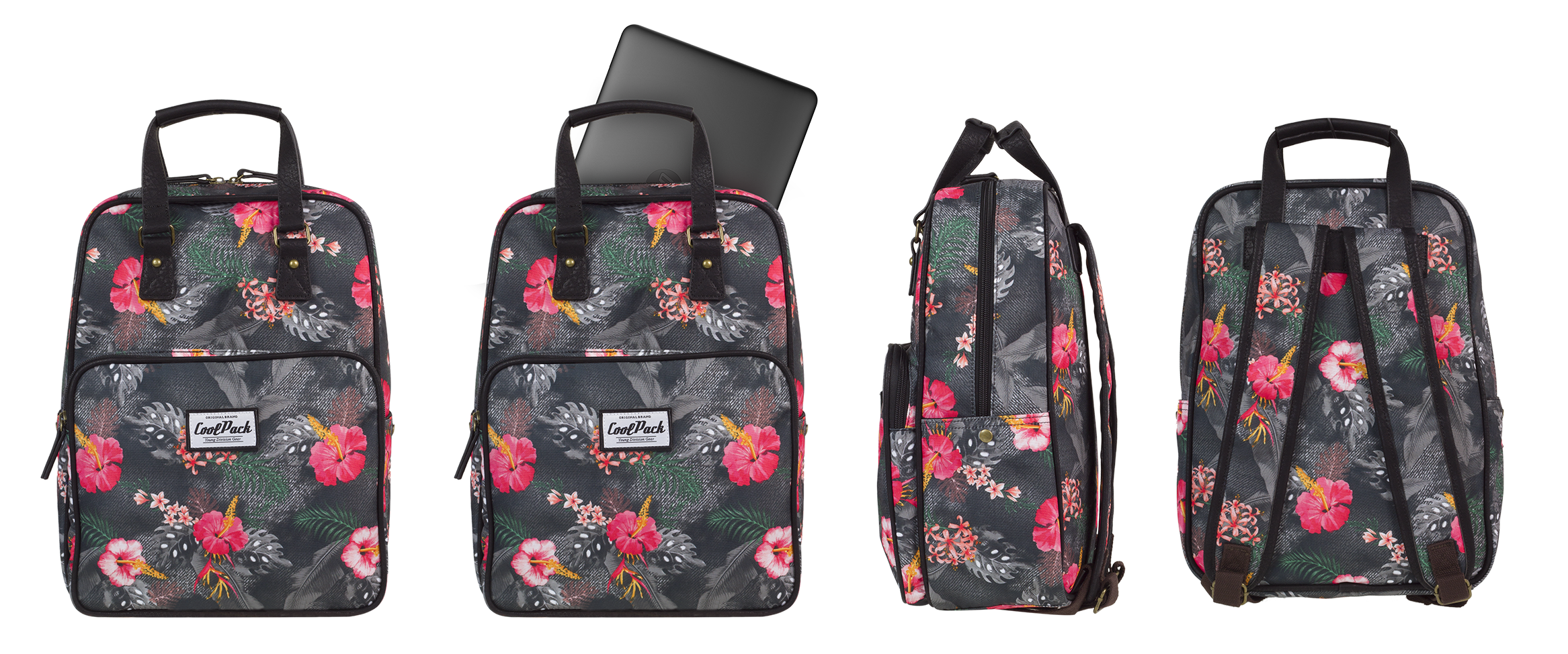 Coolpack - cubic - youth backpack - a090 - vintage