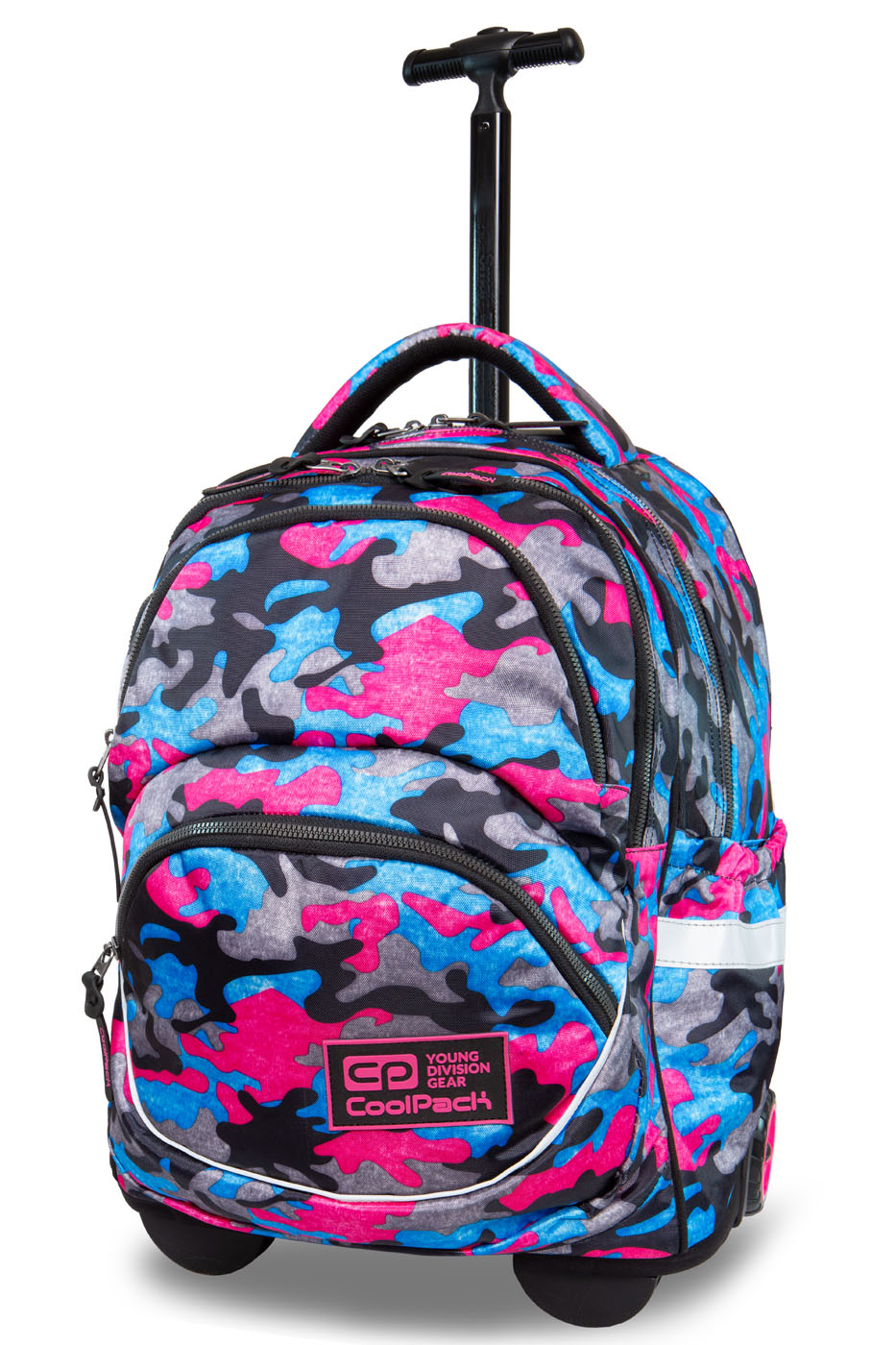 Coolpack   starr rygsæk med hjul   camo fusion pink