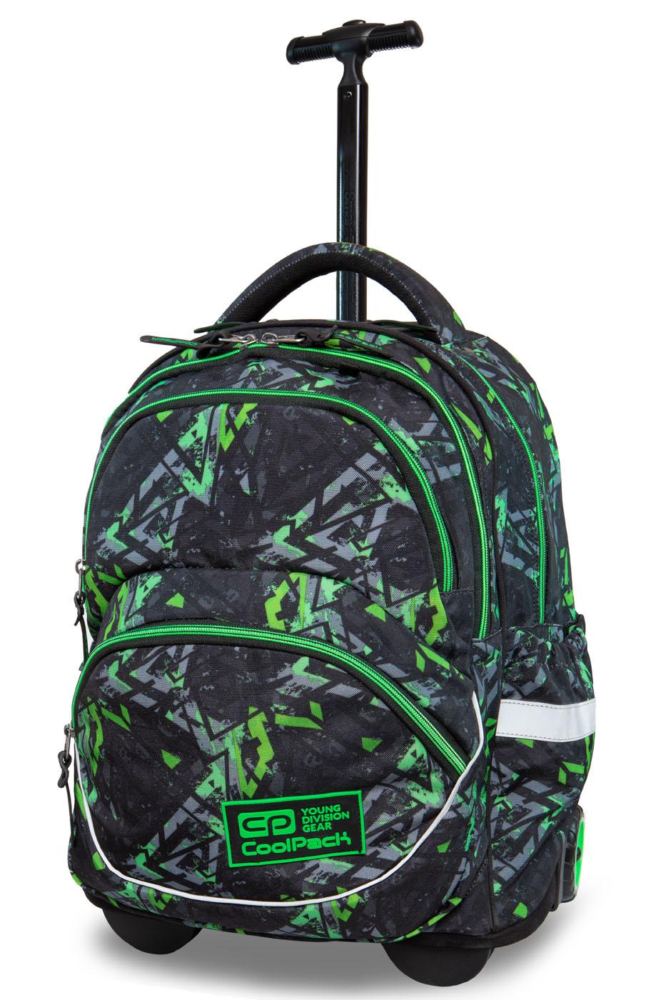 Coolpack   starr  rygsæk med hjul   electric green