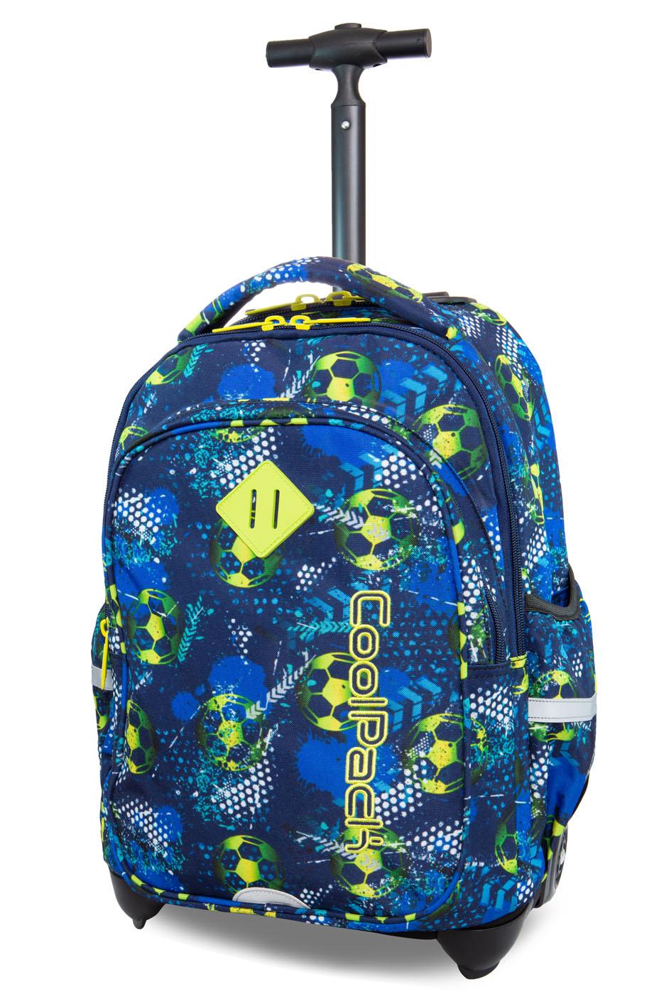 Coolpack   junior  rygsæk med hjul   football blue