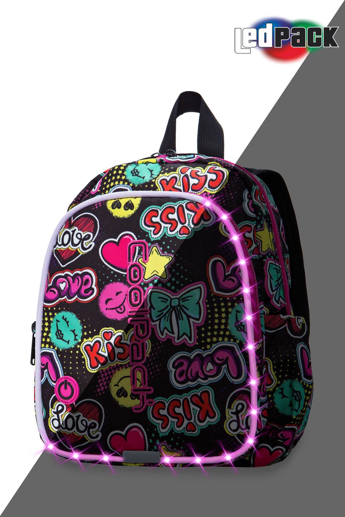 Coolpack - bobby - kids backpack - led emoticons