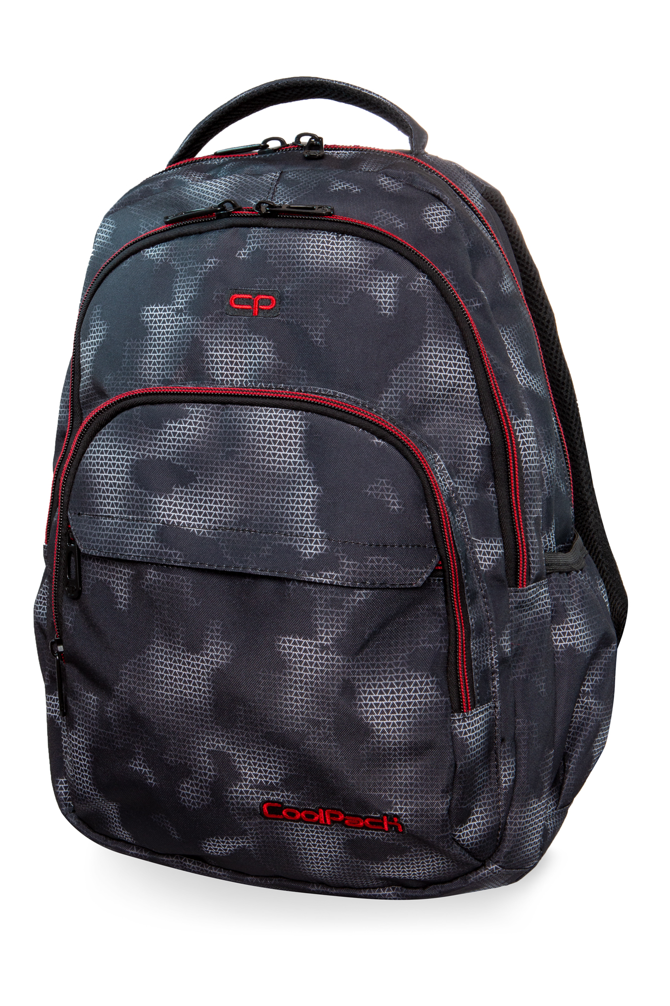 Coolpack - basic plus - youth backpack - misty red