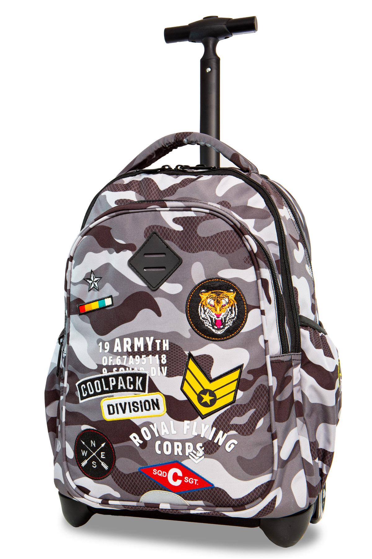 Coolpack   junior  rygsæk med hjul   camo black