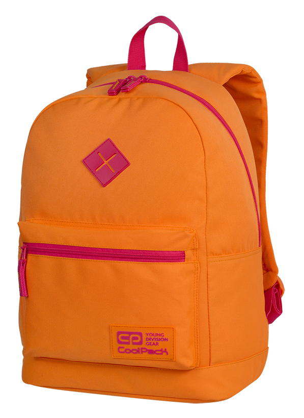 Coolpack - cross neon orange - youth backpack - a455 - 1 compartment