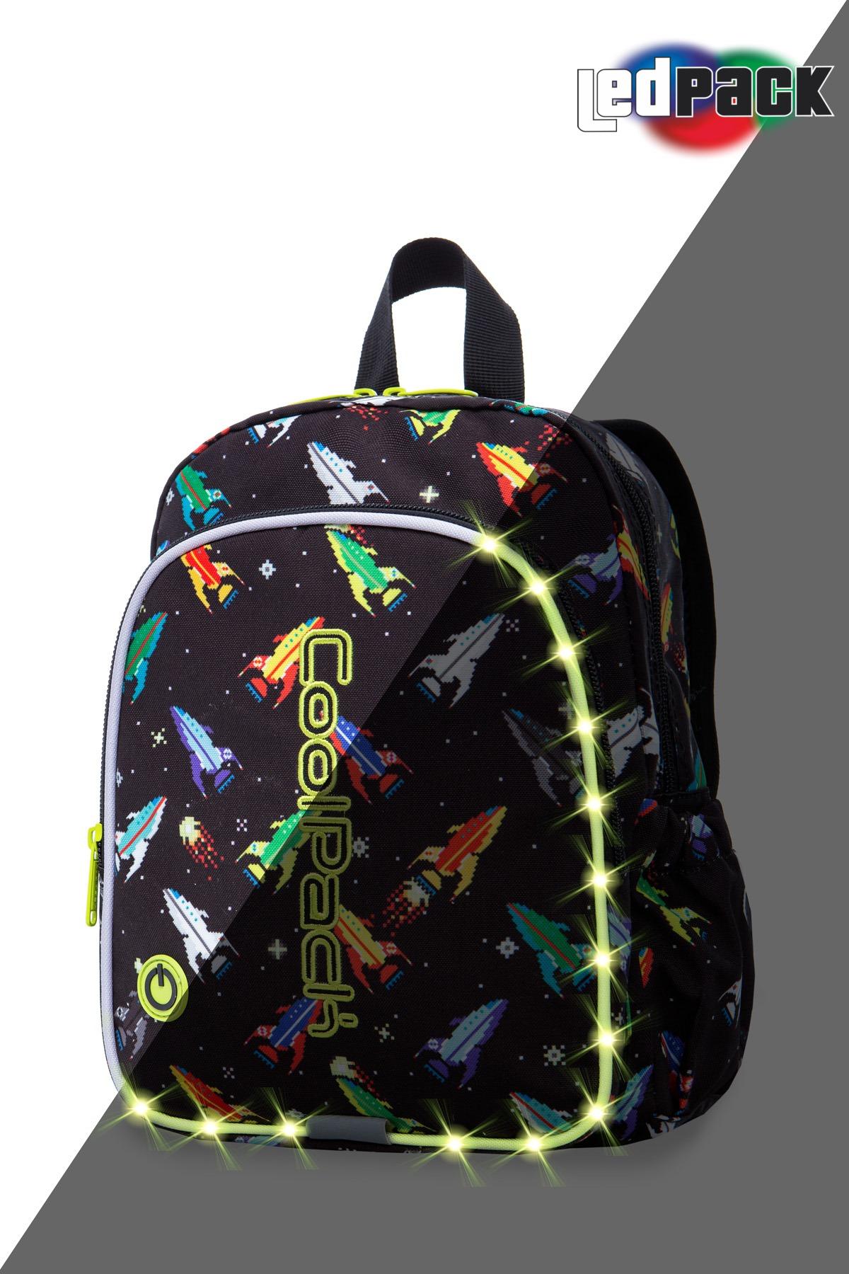 Coolpack - bobby - kids backpack - led rockets