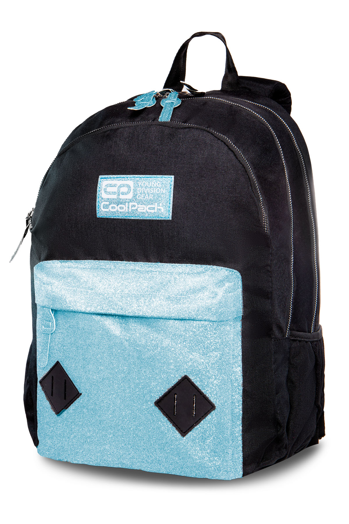 Coolpack - hippie - youth backpack - blue glitter