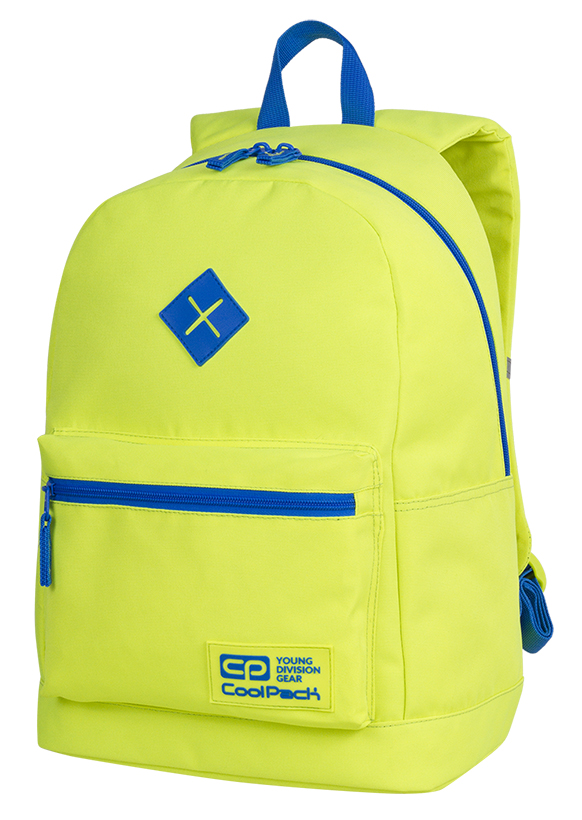 Coolpack - cross neon yellow - youth backpack - a458 - 1 compartment