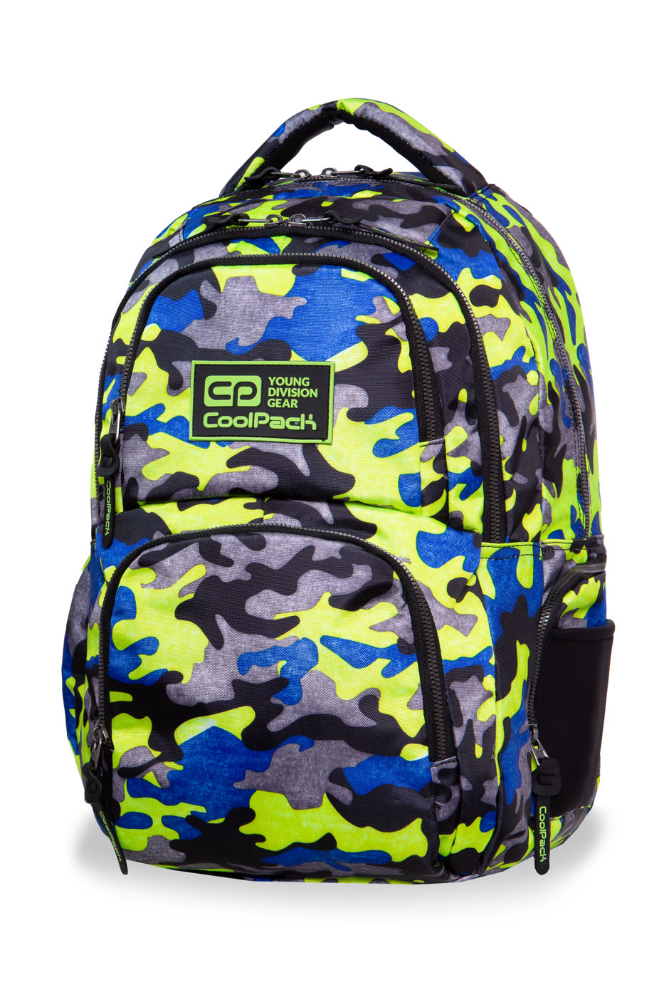 Coolpack - aero - youth backpack - camo fusion yellow