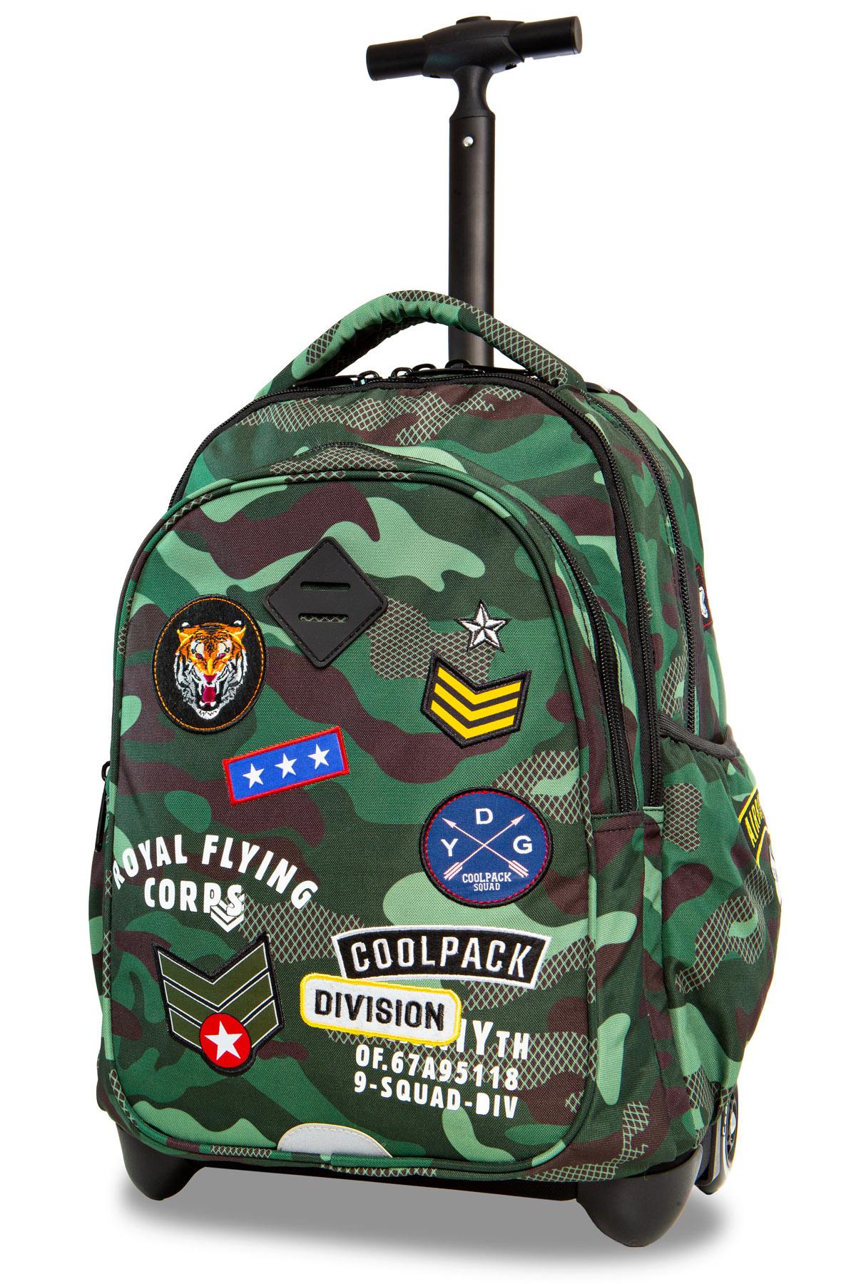 Coolpack   junior  rygsæk med hjul   camo green