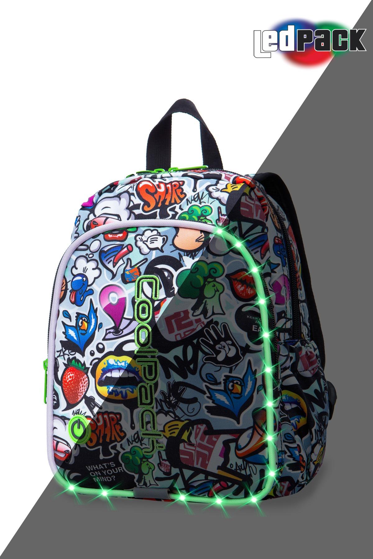 Coolpack - bobby - kids backpack - led graffiti