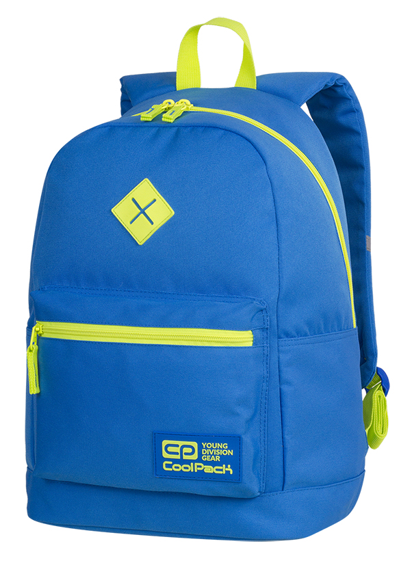 Coolpack - cross neon blue - youth backpack - a449 - 1 compartment