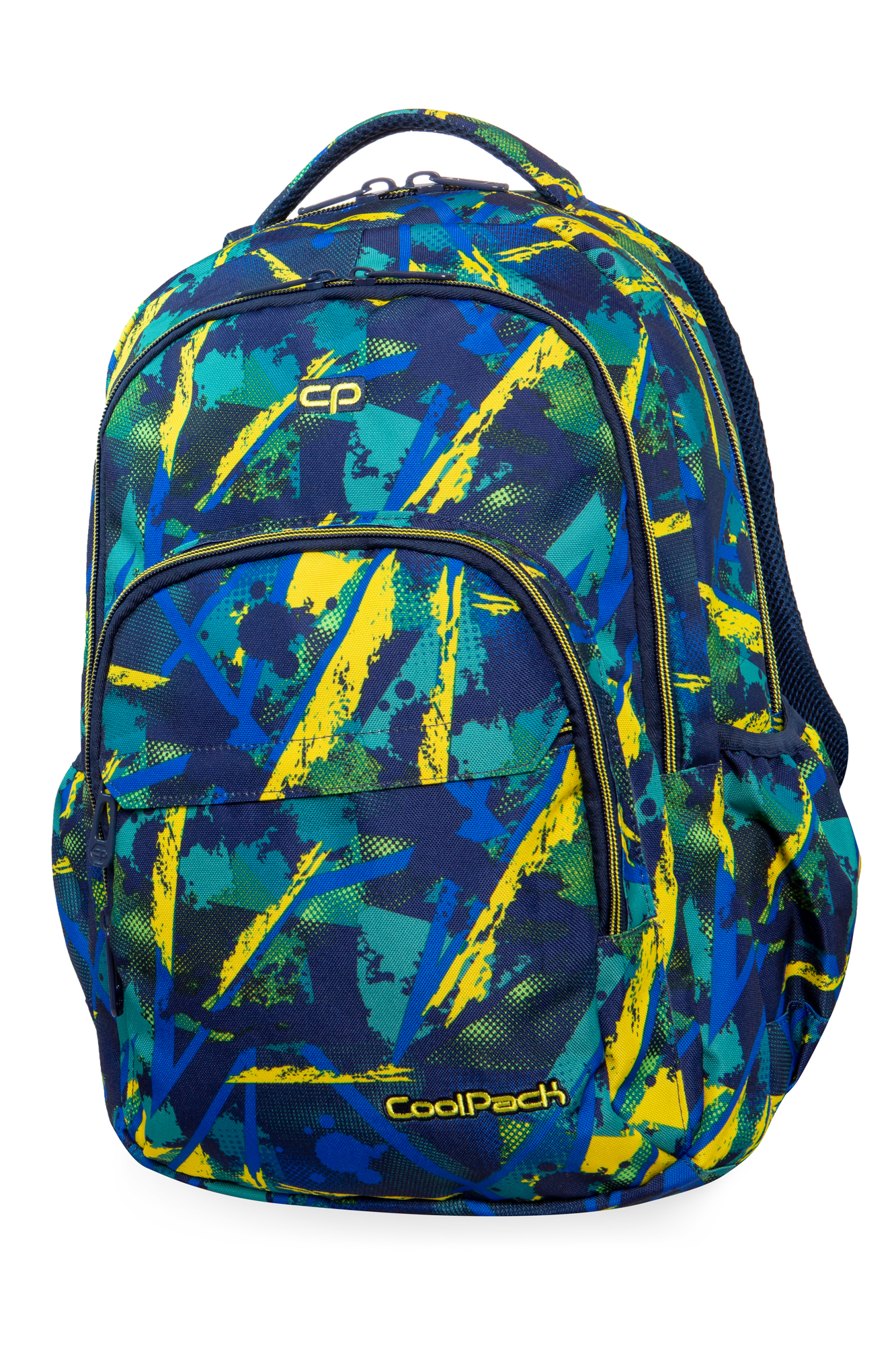 Coolpack - basic plus - youth backpack - abstract yellow