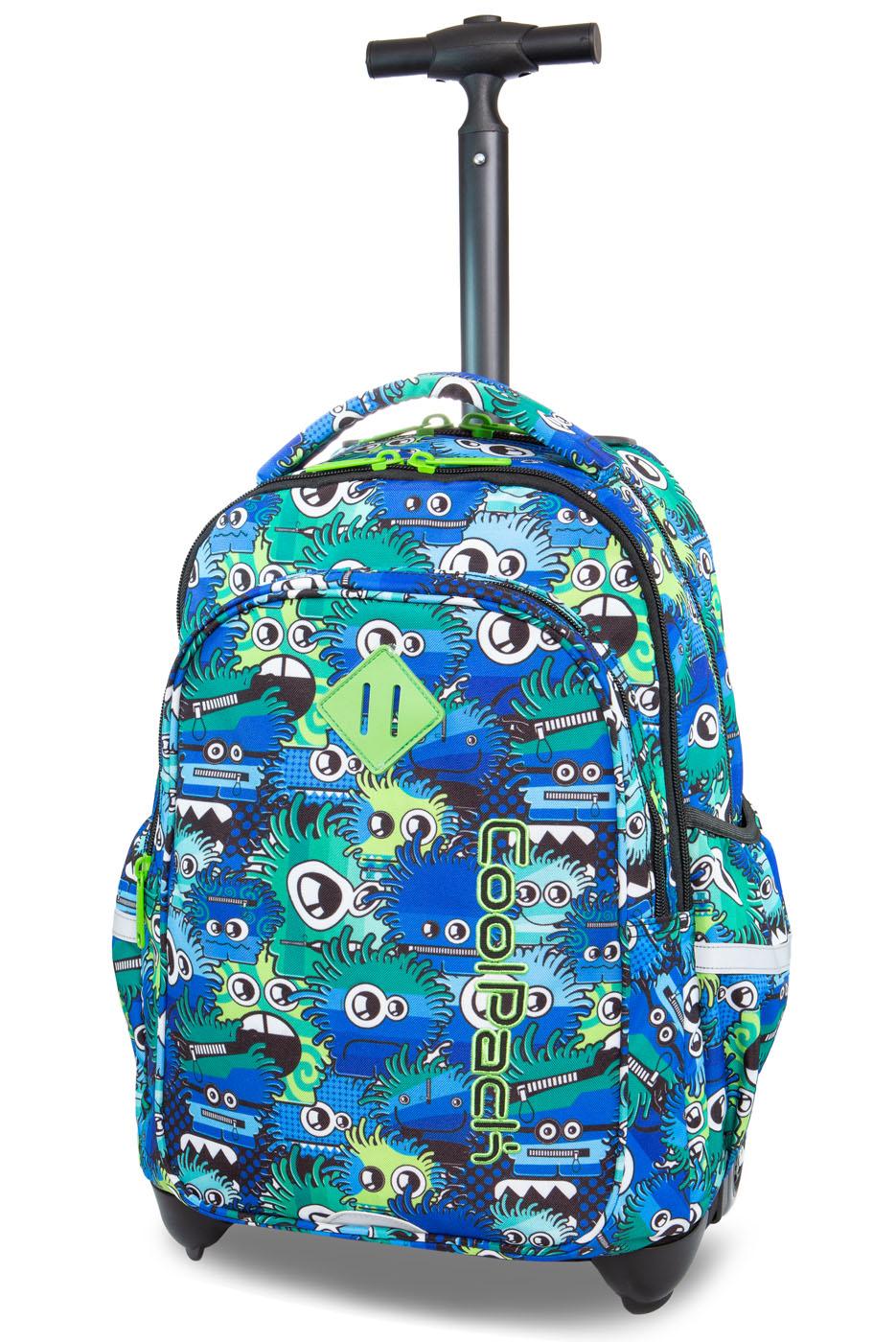 Coolpack   junior   rygsæk med hjul   wiggly eyes blue
