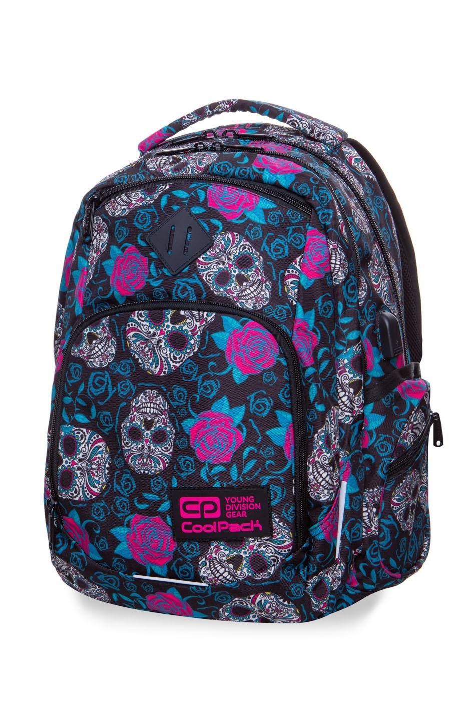 Coolpack   break  rygsæk   skulls & roses