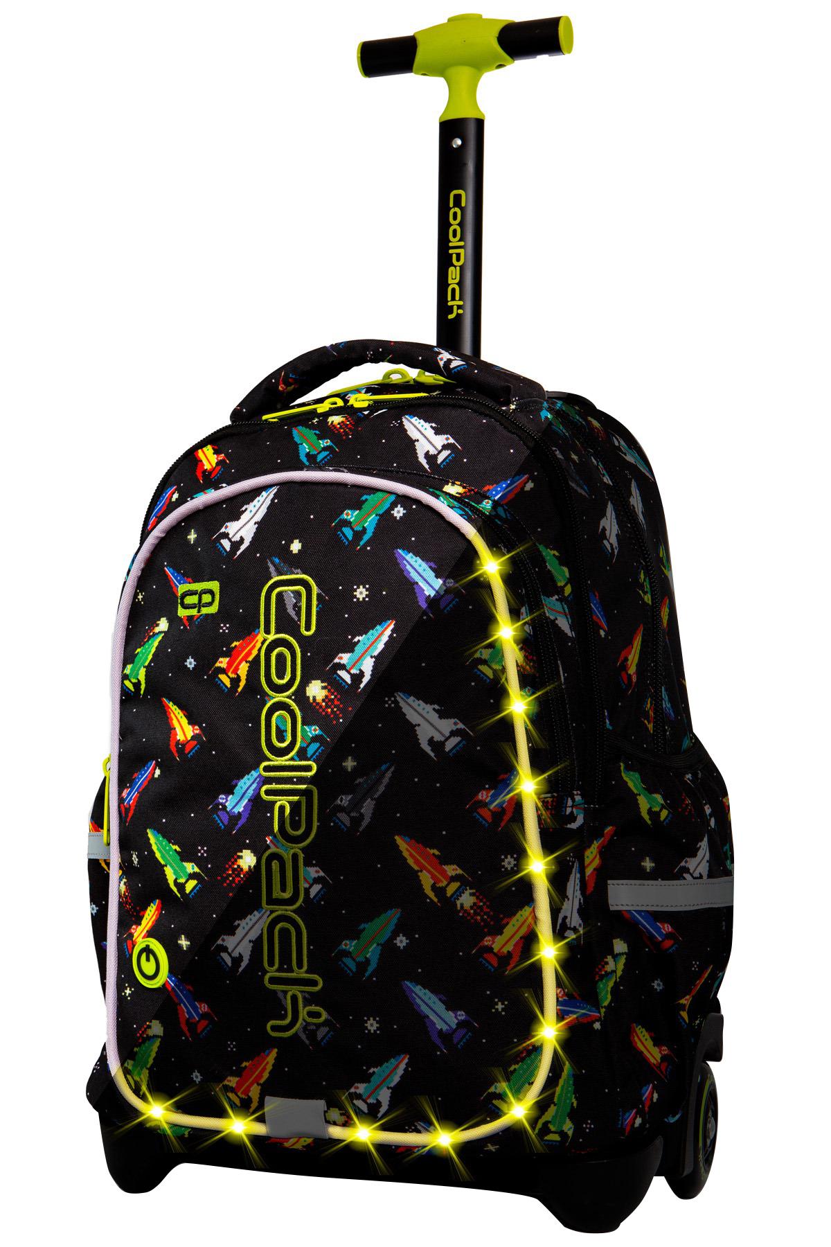 Coolpack   junior  rygsæk med hjul   led rockets
