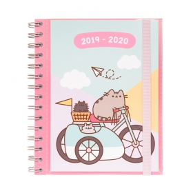 Pusheen School diary 2019/2020 sv  gold