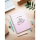 Pusheen Notebook a5 polypropylene 4x4 cover microperforated  rose collection
