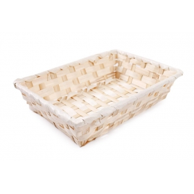 Rectangular bamboo basket 24x16x5 cm