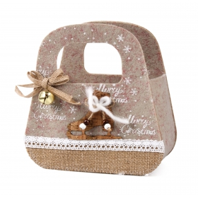 Christmas felt bag 19x9x12 / 19 cm