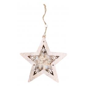 Pendant Christmas star 14x14 / 25 cm