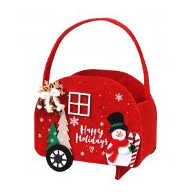 Christmas felt basket 20x9x17 / 29.5 cm