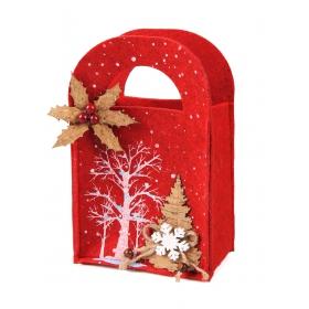 Christmas felt bag 12x7x13 / 18 cm