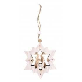 Christmas star pendant 8.5x10.5 / 21 cm