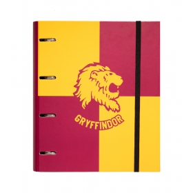 Premium 4 ring binder file folder harry potter gryffindor
