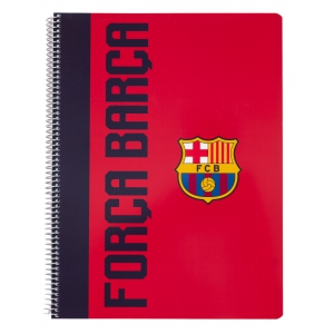 Notebook a5 polypropylene 4x4 cover microperforated FC barcelona total fans