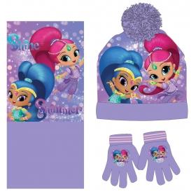 Shimmer and Shine winter set: hat,gloves,scarf