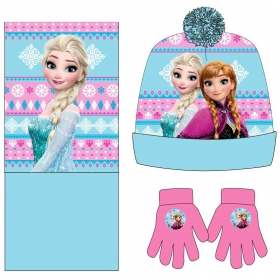 Frozen winter set: hat,gloves,scarf