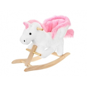 Rocking horse (rocker) 70cm white-pink Kruzzel