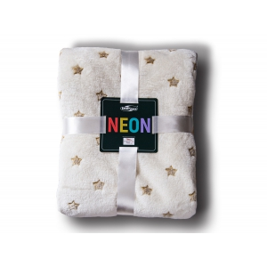 Neon blanket cream stars + gold / 200x220