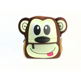 Neoprene monkey preschool backpack