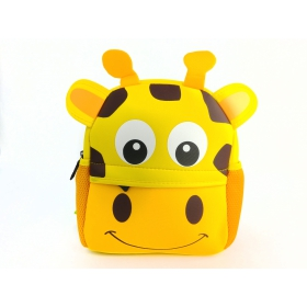 Neoprene giraffe preschool backpack